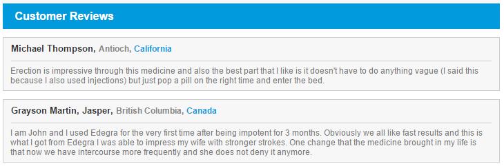 Edegra Reviews