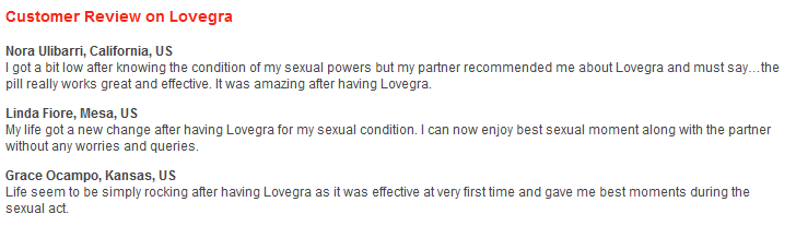 Lovegra 100mg Reviews
