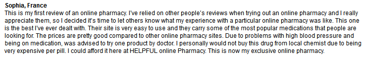 Cheap-pills.com Testimonial